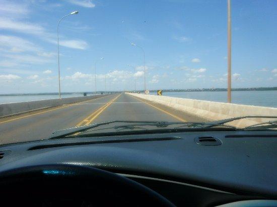 Guaira, PR: Ponte Ayrton Sena - sentido Guaíra-PR