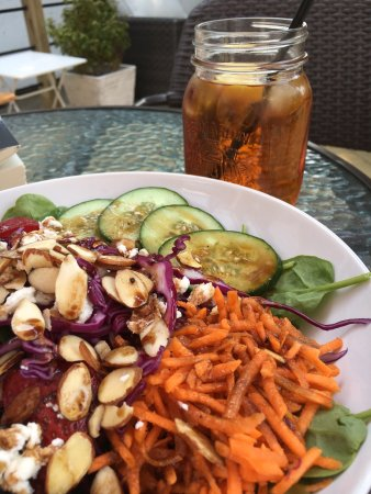 The Wild Oak Cafe & Community Market: A delicious locally sourced salad and the new deck