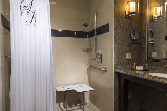 The Skirvin Hilton Oklahoma City: Roll-in Shower