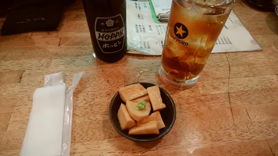 Nishitokyo, Japón: 山芋生姜漬け。肴が豊富。