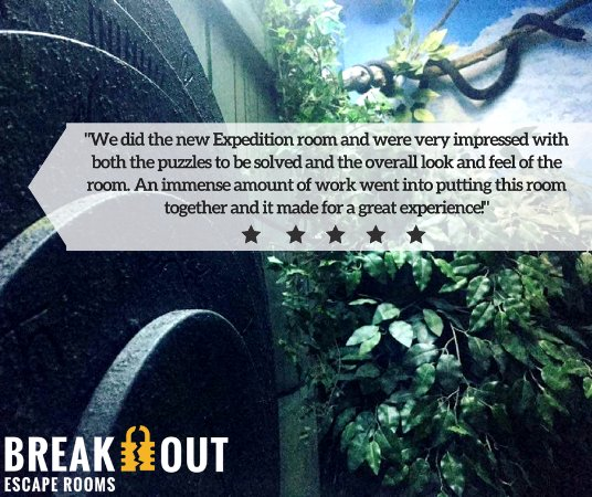 Breakout Escape and Game Lounge: Reviews from our customers!