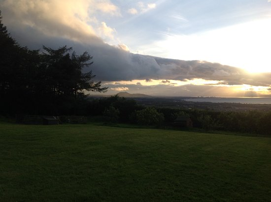 Tranent, UK: View from the Lawn: Arthur's Seat in Background
