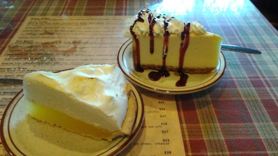 Chestertown, NY: Dessert - cheesecake and lemon meringue pie.