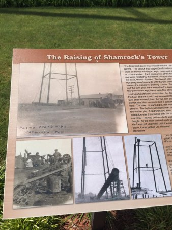 Shamrock, تكساس: Plaque