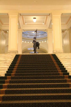 State Capitol: Up the main stairs from the lower level entrance
