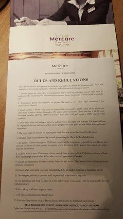 Mercure Hanoi La Gare Hotel : Rules and regulations