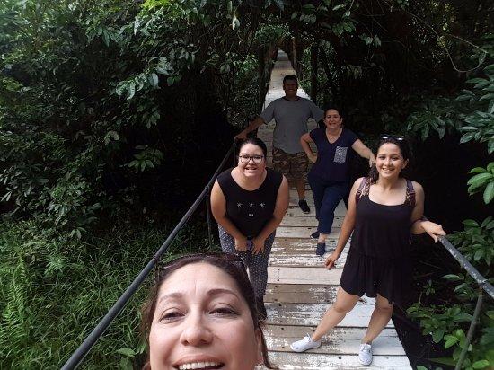 Rio Dulce, Guatemala: la entrada a las habitaciones es un puente colgante