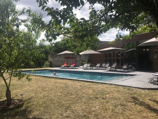 Candes-Saint-Martin, France: The pool, the orchard, the grounds.