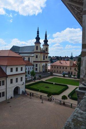 Litomysl, Republika Czeska: výhľad do zámockej záhrady