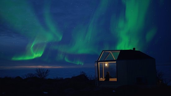 Mustasaari, Finland: Glass house, night