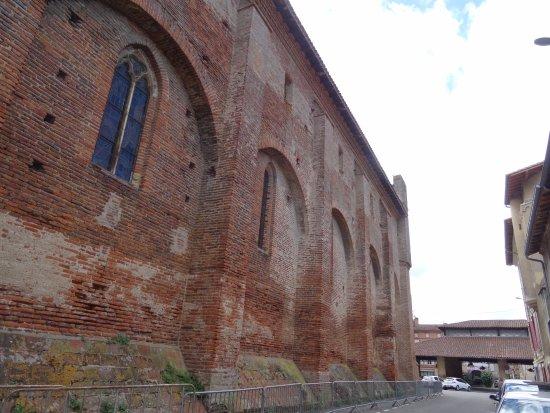Montesquieu-Volvestre, Франция: Façade nord de l'église