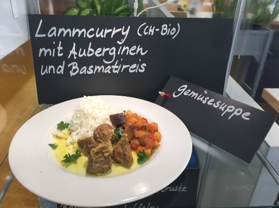 Lenzburg, Schweiz: Ankündigung des Tagesmenü