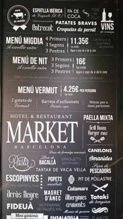 cartel del restaurante