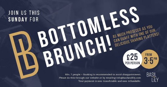 Prestwich, UK: Bottomless Brunch!