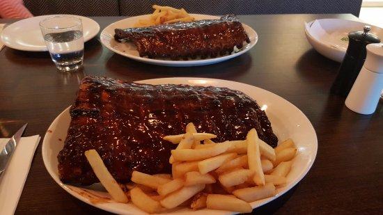 Narellan, Australia: Two huge racks of ribs!