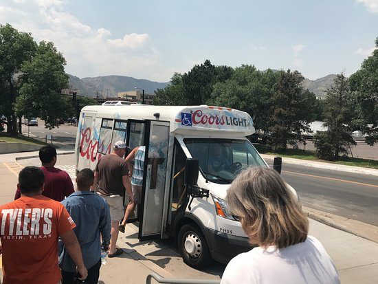 Golden, CO: The bus to the tour has arrived!