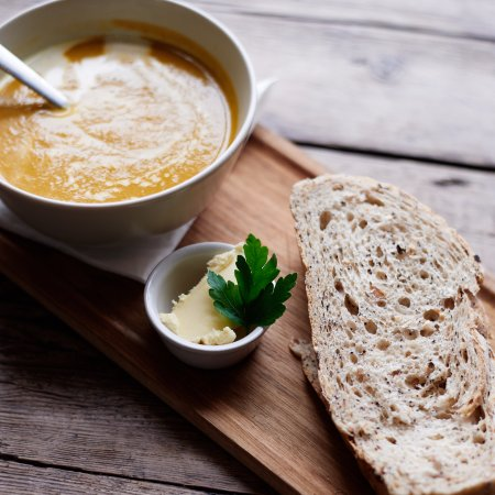 Milton Common, UK: Warm up with the soup of the day