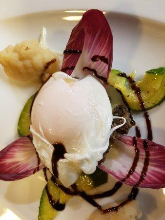 Chaumont, Frankrike: oeuf mollet sur duxelle de champignon
