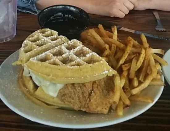 Lake Jackson, TX: Chicken and Waffles Monte Cristo
