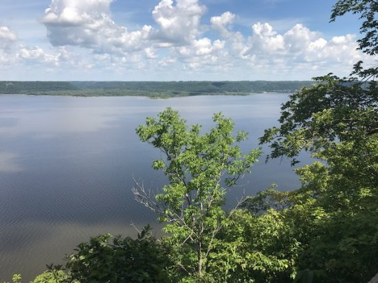 Frontenac, MN: A view of the Mississippi River as seen from an overlook.