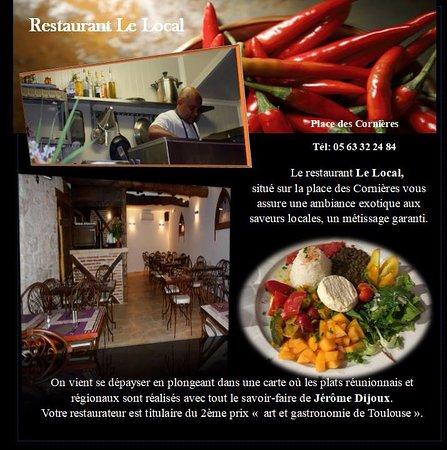 Lauzerte, France: En présentation une assiette végétarienne. Le chef modifie sa carte tous les jours.