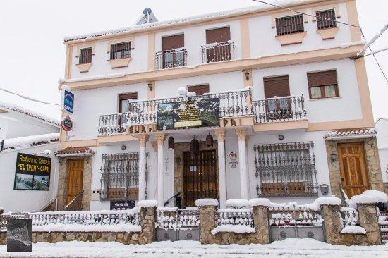 Arriate, España: El Tren nevado en la gran nevada del 2017