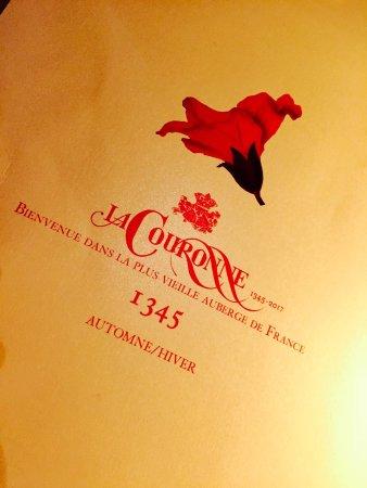 Restaurant La Couronne: La Carte