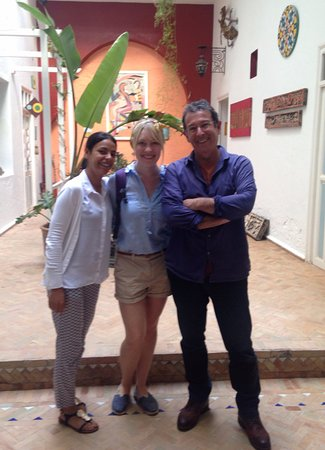 Riad Watier: Manager Hayat (L) and owner Jean-Gabriel (R) with my wife Rachel.
