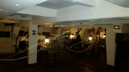 Hartlepool, UK: Below decks