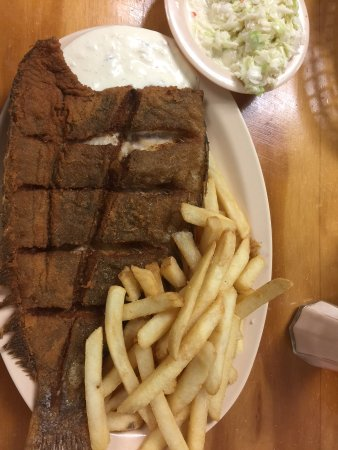 Salter Path, NC: Luch whole flounder special $9.99 8/8/2017