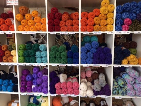 Espanola, NM: What a selection of yarn!