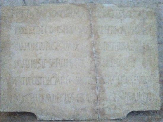 Venta de Banos, Spain: Inscripción. San Juan de Baños
