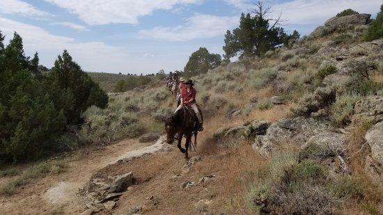 The Lodge and Spa at Brush Creek Ranch: horseback riding