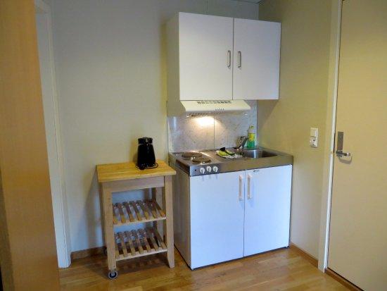 City Living Scholler Hotel & Apartments : Minikeukentje in de kamer