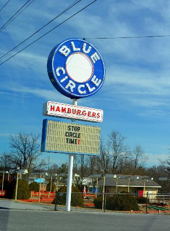 Bristol, TN: Always time for the Blue Circle