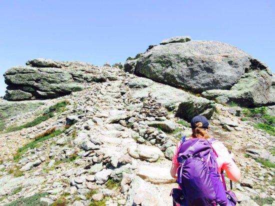 Mount Lafayette : Les sentier sur la crête des 3 monts
