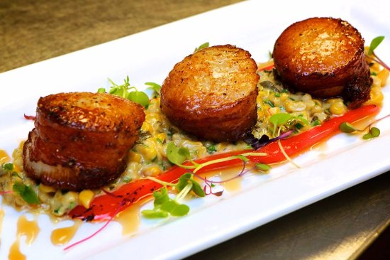 Kohler, WI: Our signature Pancetta Wrapped Scallops
