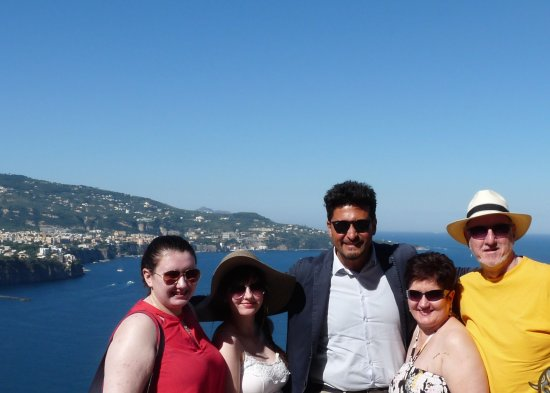 Best Tour Of Italy: With Francesco our driver overlooking Sorrento