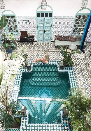 Swimming pool picture of riad be marrakech marrakech for Top 10 riads in marrakech