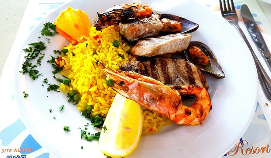 Cafe Restaurant Amoopi Nymfes: Gemischte Meeresplatte