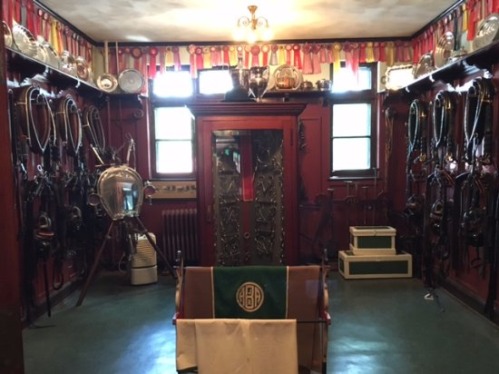 Grant's Farm : One of the tack rooms at the stable