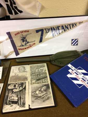 Memorabilia from the Fort Devens 7th Infantry