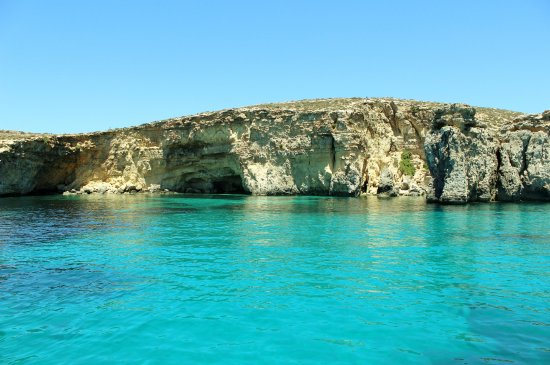 San Lawrenz, Malta: Clear waters around the Island of Comino. One of our diving destinations accessible by boat only