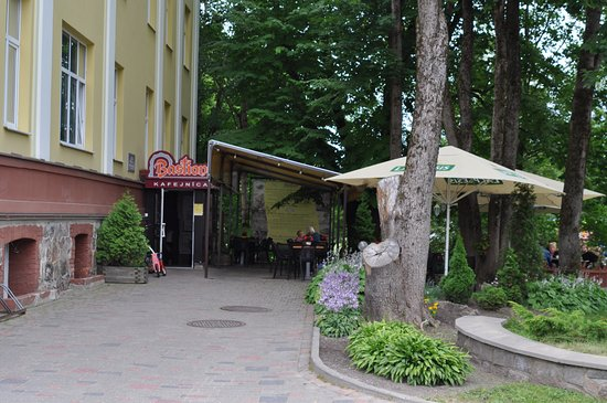 Valmiera, Letonia: Вход в ресторан