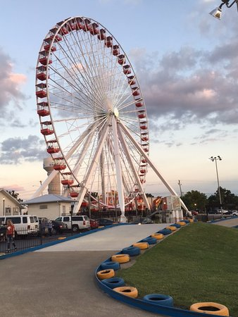 Branson, MO: A view of the Ferris wheel and part of the track.