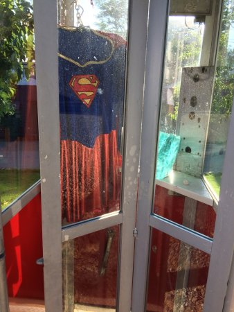 Weaverville, CA: The reason crime is so low here. Supergirl has a place to change.