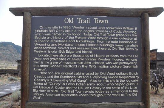 Old Trail Town: panneau