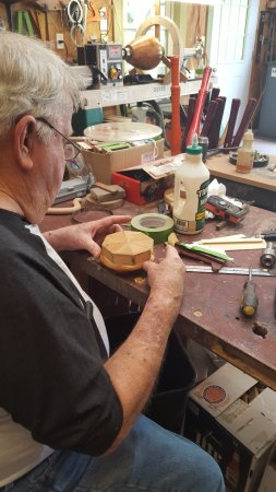 Organic Vessels Studio Gallery : Vernon Williams loves to share how he designs segmented bowls