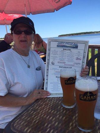 Stanley Bridge, كندا: Mmmmm.... Blueberry beer