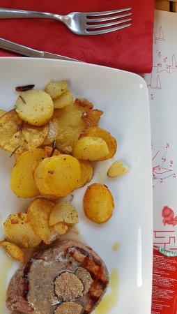 Barban, Kroatien: Beefsteak/Trüffel/Kartoffel